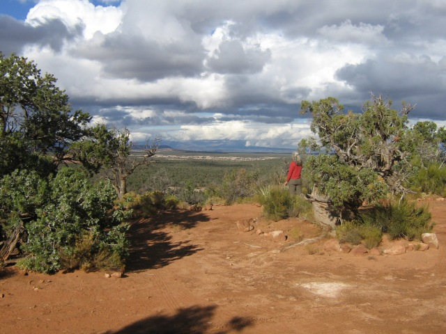 Or on top of Cedar Mesa with a storm rolling in.