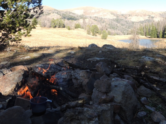 Evening fire.